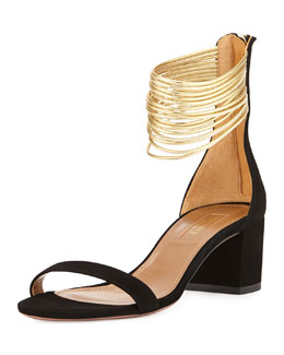 Spin-Me-Around 50mm City Sandal, Black