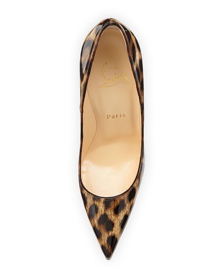 finest selection b9cda d5210 So Kate Leopard-Print Patent Red Sole Pump