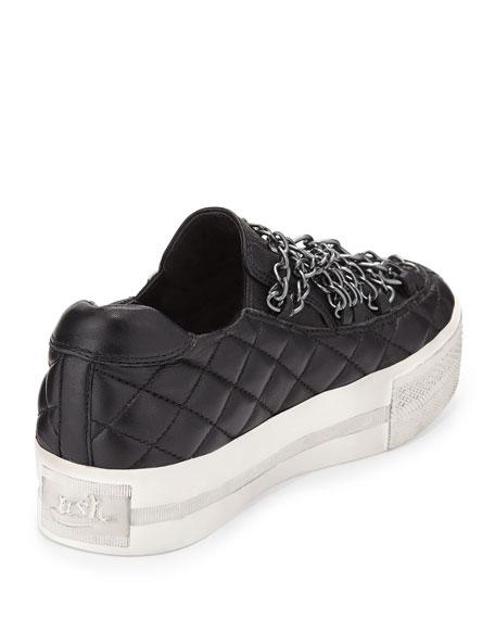 Jewel Bis Chain Platform Sneaker, Black