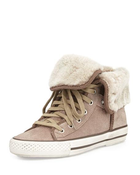 Top Over Fold Taupe Vanna High Sneaker 5AL4Rj