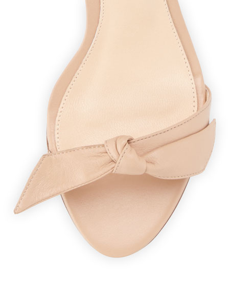 Leather Bow-Tie d'Orsay Sandal
