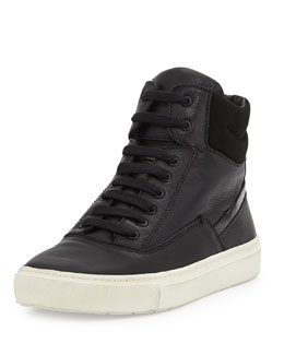Vince Newman Leather High-Top Sneaker