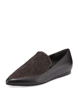 Vince Nikita Point-Toe Combo Loafer