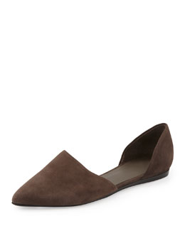 Vince Nina Two-Piece Suede Flat, Umber
