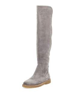Vince Coleton Suede Over-the-Knee Boot, Graphite