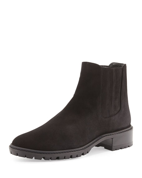 Elemental Suede Ankle Boot, Nero