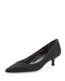 Poco Glitter Kitten Heel Pump, Black