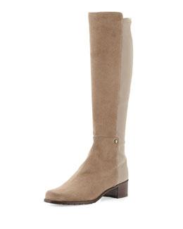 Mezzamezza Suede Knee Boot, Praline
