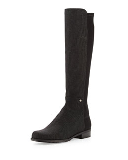 Stuart Weitzman Coast Mezzamezza Pindot Knee Boot, Black (Made to Order)