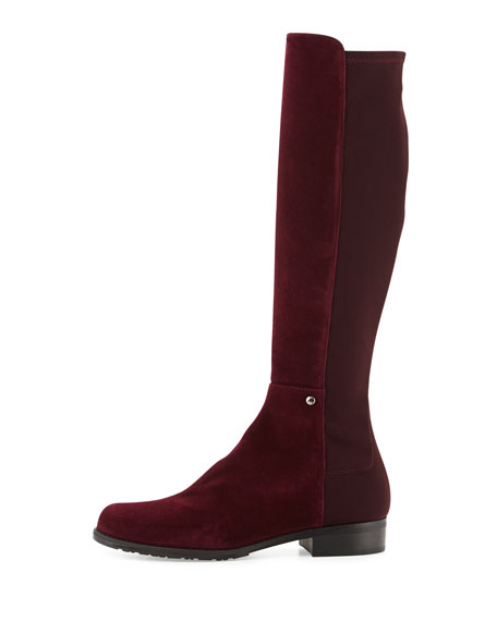 Coast Mezzamezza Suede Knee Boot, Bordeaux