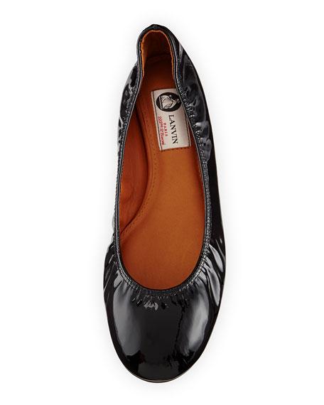 Patent Leather Ballerina Flat, Black