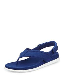 Gabardine Thong Sandal, Bluette
