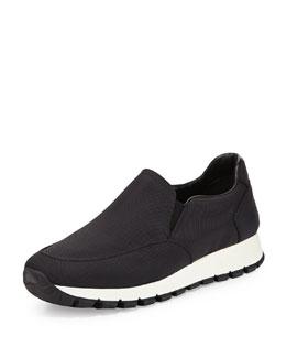 Nylon Slip-On Sneaker, Nero