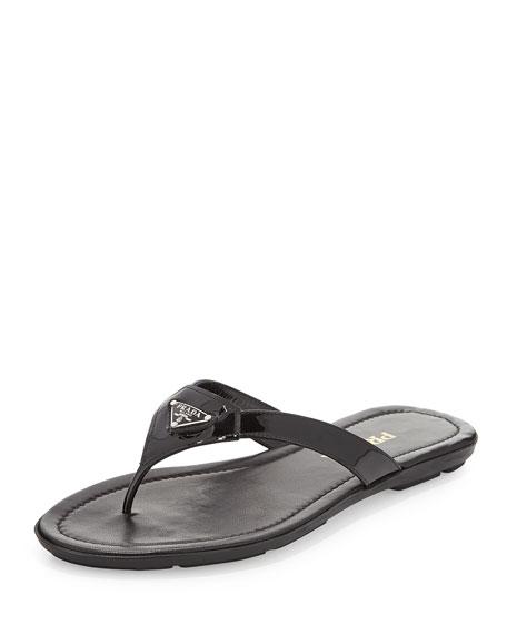 Prada Leather Flip Flops kypY5