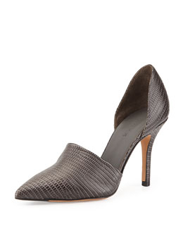 Vince Claire Two-Piece Embossed Pump, Graphite