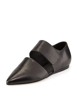 Vince Niven Pointed d'Orsay Flat, Black