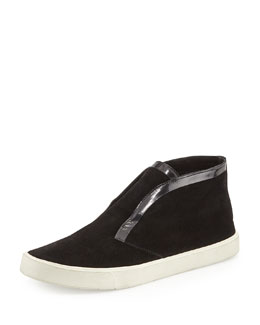Vince Patton Suede Slip-On Sneaker, Black