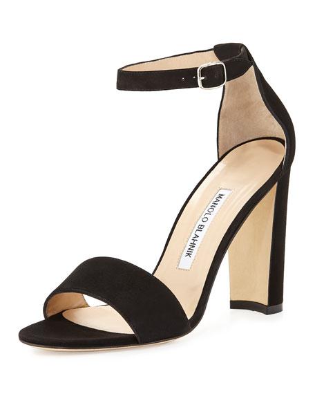 Manolo Blahnik Lauratom Ankle Strap Sandals discount footlocker 3DqLBm