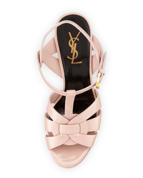 Tribute Patent Leather Platform Sandal, Light Rose