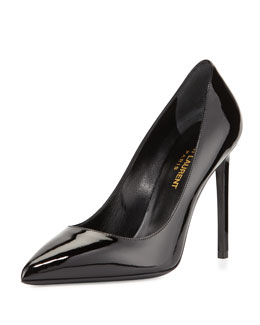 Paris Patent Leather Pump, Nero