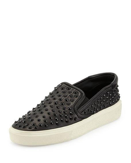 Napa Studded Skate Shoe, Noir