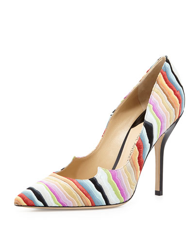 Zenadia Layered Suede Pump, Multi