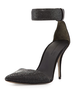 Alexander Wang Lovisa Stingray Ankle-Wrap Pump, Black