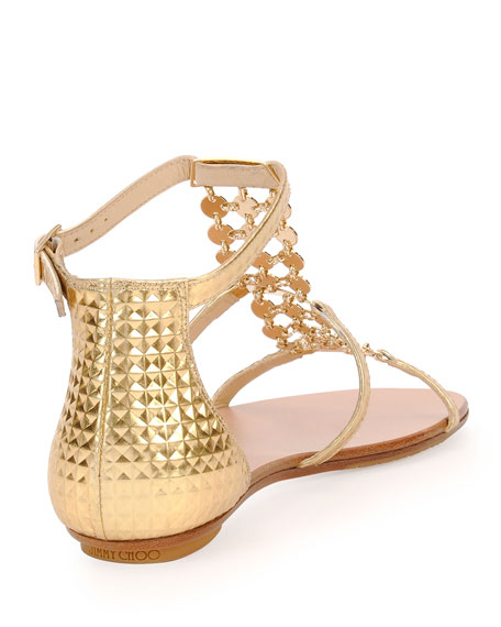 jimmy choo sandals gold