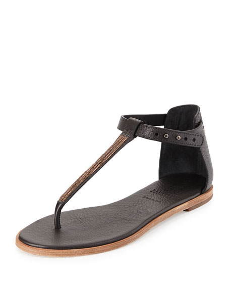 clearance 2014 newest Brunello Cucinelli Monili Thong Sandals buy cheap cheap buy cheap best seller limited edition FxjOCI1nNf