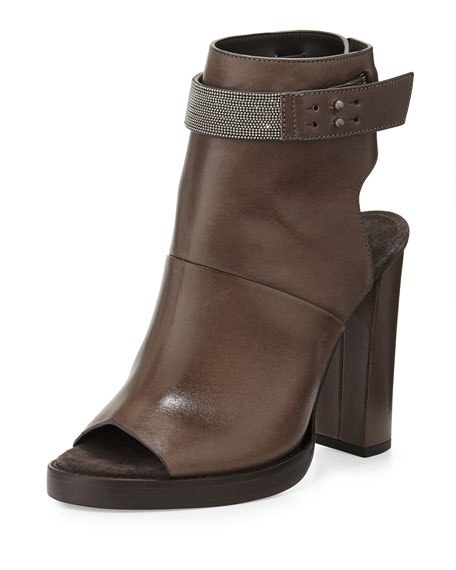 official sale online discount Brunello Cucinelli Peep-Toe Wedge Ankle Boots 100% authentic cheap online OafBvv