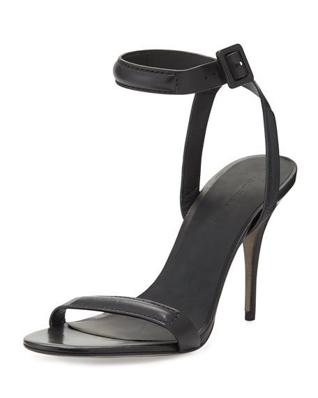 Alexander Wang Antonia Leather Sandal, Black
