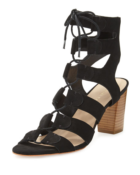 cheap Manchester Loeffler Randall Suede Lace-Up Sandals where to buy best sale 5JOyc9s4