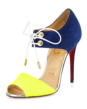 christian louboutin grommet sandals