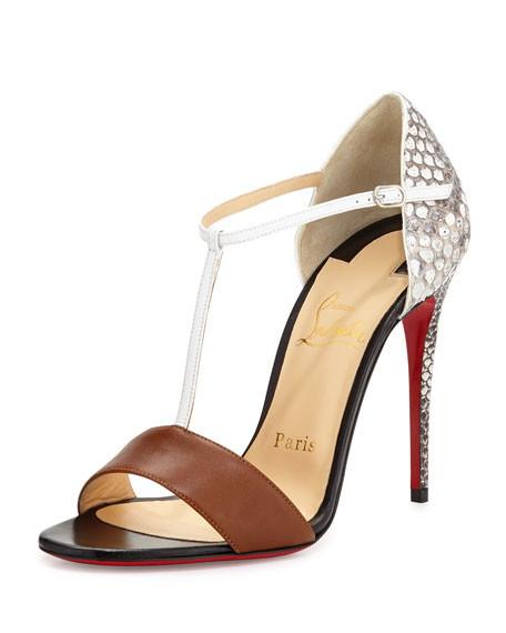 christian louboutin men online store - Christian Louboutin True Blue Python Red Sole Pump, Cuoio