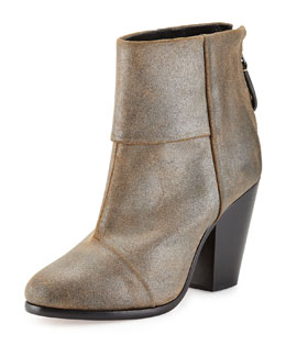 Newbury Classic Ankle Boot, Metallic Taupe