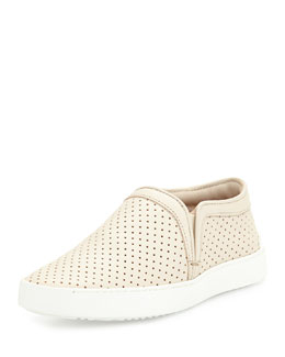 Rag & Bone Kent Perforated Slip-On Sneaker, White