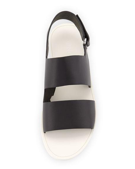 Sorce Leather Slingback Flat, Black