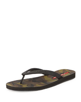 Camouflage Bottom Thong Sandal, Mementico