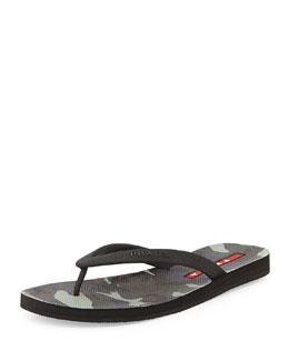 Camouflage Bottom Thong Sandal, Fumo