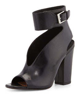 Hope Open-Toe Cutout Bootie, Black