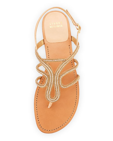Thongshow Crystal Sandal, Gold