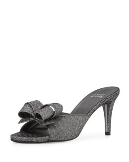 Bobo Opera Metallic Bow Slide, Pewter