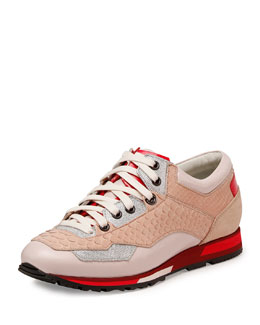 Mixed-Media Sneaker, Rose