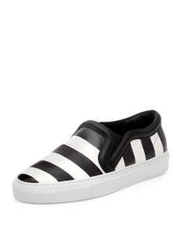 Striped Leather Skate Shoe