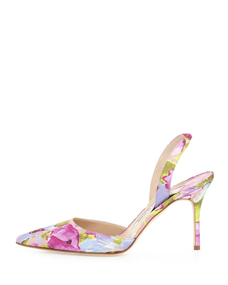 Manolo Blahnik Carolyne Floral Pumps free shipping wiki outlet cost fw1uWMv