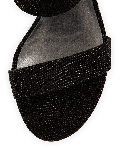 MySlide Leather Sandal, Black