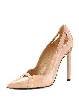 Drama Patent Leather Pump, Adobe