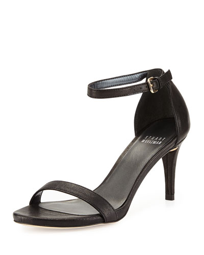 Nunaked Leather Sandal, Black