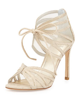 Openleaf Leather Tie-Front Sandal, Cava
