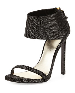 Showgirl Ankle-Cuff Sandal, Night